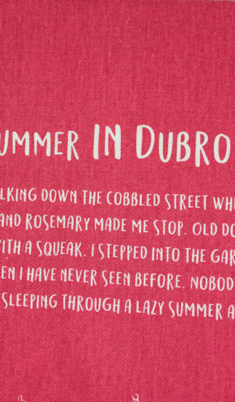 Dubrovnik on Bural kitchen towel
