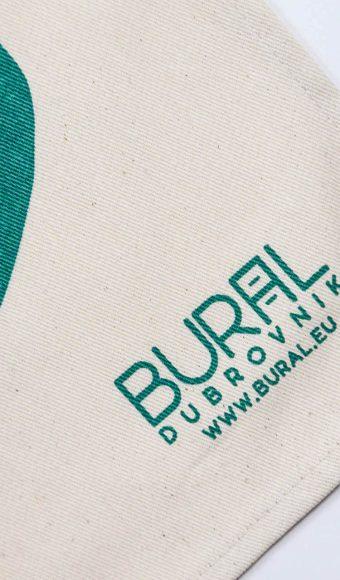 Bural - dubrovnik na kuhinjskom tekstilu